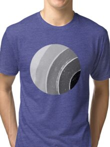 Brush Abstract 4 Grey Tri-blend T-Shirt