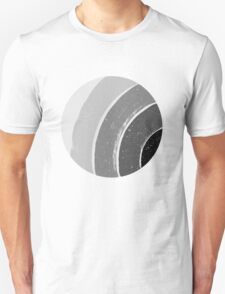 Brush Abstract 4 Grey Unisex T-Shirt