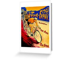 """TOUR DE FRANCE "" Vintage (1903) Bike Racing Print Greeting Card"