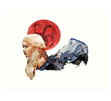 With Fire and Blood Art Print