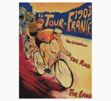"""TOUR DE FRANCE "" Vintage (1903) Bike Racing Print Kids Tee"