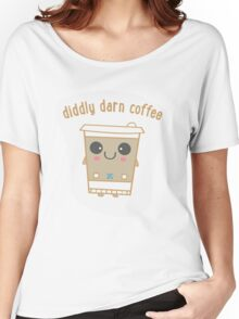 Diddly Darn Coffee Women's Relaxed Fit T-Shirt