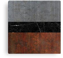 Concrete, Marble and Rusted Iron Abstract Canvas Print