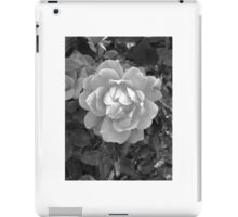 Black and white flower iPad Case/Skin