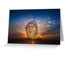 h3h3 / Bless up / Papa Bless / Phone case - Sunset Greeting Card