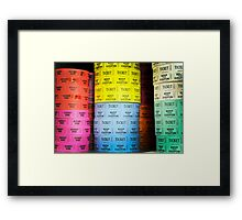 Ticket booth Framed Print