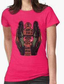 The Rabbit in Red Womens Fitted T-Shirt