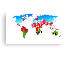 World of Tulips Canvas Print