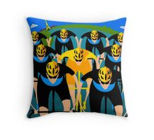 """TOUR DE FRANCE"" Art Deco Bike Racing Print Throw Pillow"