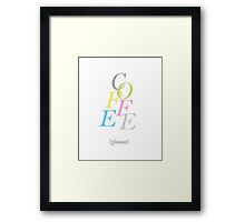 Coffee Multi-coloured Framed Print