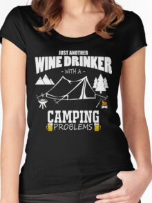 camping marshmallow get toastoed Women's Fitted Scoop T-Shirt