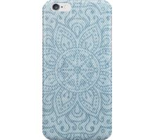 Mandala on Light Blue Jeans iPhone Case/Skin
