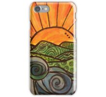 Sunset and Waves  iPhone Case/Skin