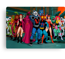 The Evil Horde Filmation Style Canvas Print