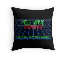 New Wave Karaoke - Digital Font - Pillow Throw Pillow