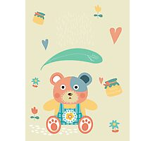 happy kuma Photographic Print