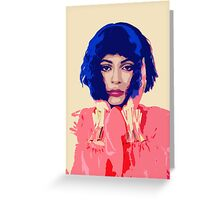 Kylie Jenner Greeting Card