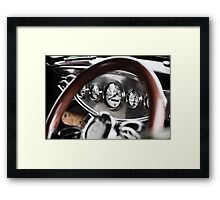 Vintage Classic Car Dashboard Framed Print