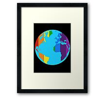 Rainbow Earth-Pride Flag Framed Print