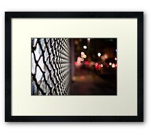 blurred street Framed Print