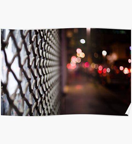 blurred street Poster