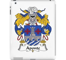 Aponte Coat of Arms/Family Crest iPad Case/Skin