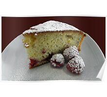 Scrumptious Raspberry Cake Poster