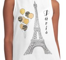 Paris Black and Gold Balloons Contrast Tank