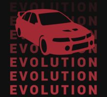 Mitsubishi Evo JDM Car Shirt by MikeKunak