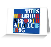 THE SHELBOURNE FOOTBALL CLUB 1895 (STONE ROSES) Greeting Card