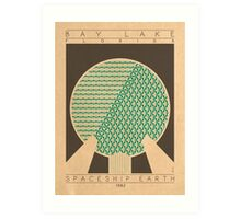 Spaceship Earth - 1982 (Green) Art Print