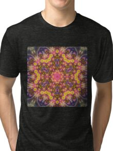 Orange Mandala - Abstract Fractal Artwork Tri-blend T-Shirt