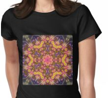 Orange Mandala - Abstract Fractal Artwork Womens Fitted T-Shirt