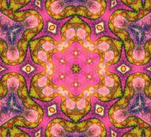 Orange Mandala - Abstract Fractal Artwork Sticker