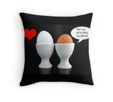 Too Different 4 Love Throw Pillow