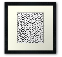 Dragon Scales Clear Framed Print