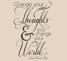 Change Your Thoughts Quote T-Shirt