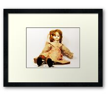 Porcelain doll Framed Print