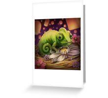 Lizard Under the Lights Greeting Card