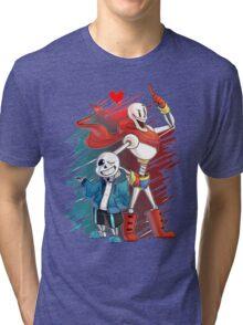 Undertal Skeletons Tri-blend T-Shirt