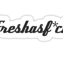 Fresh as Fuck Carbon Fibre / Fiber JDM Sticker Sticker