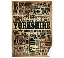 VINTAGE YORKSHIRE SAYINGS Poster