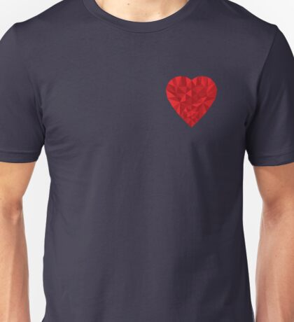 Low Poly Heart Unisex T-Shirt