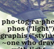 Photographer Definition Sticker