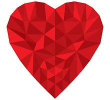Low Poly Heart by MikeKunak