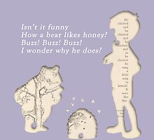 Winnie The Pooh Book Print by DOOLALLY