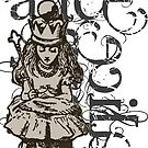 Alice In Wonderland Queen Alice Grunge by Sally McLean