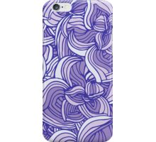 Violet floral abstract pattern iPhone Case/Skin