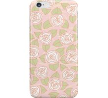 Floral pattern with roses iPhone Case/Skin