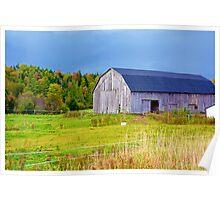 Nova Scotia Barn in Autumn Poster